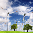 Ecology and wind power - Stock Photo