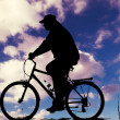 Biker at Sunset — Stock Photo