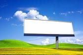 Big blanked bilboard — Stock Photo