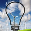 Stock Photo: Wind power, eco concept