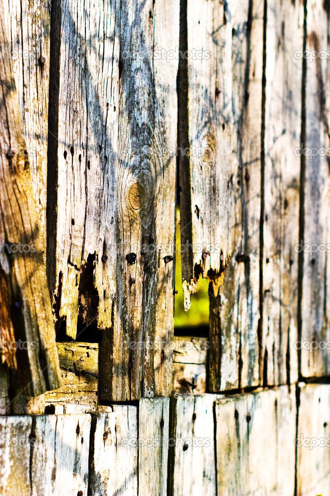 Old grey wood textured for abstract bacground — Stock Photo #2983748
