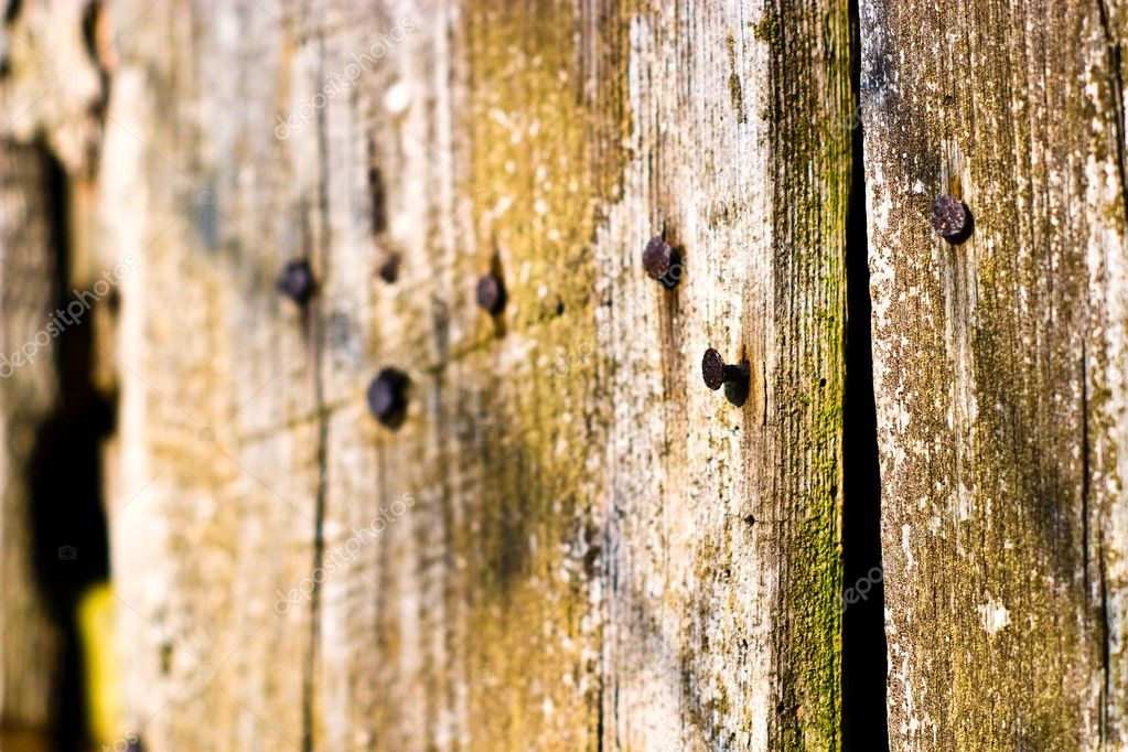 Old grey wood textured for abstract bacground  Stock Photo #2983767