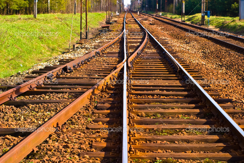 View of the railway track on a sunny day — Stock Photo #3010447