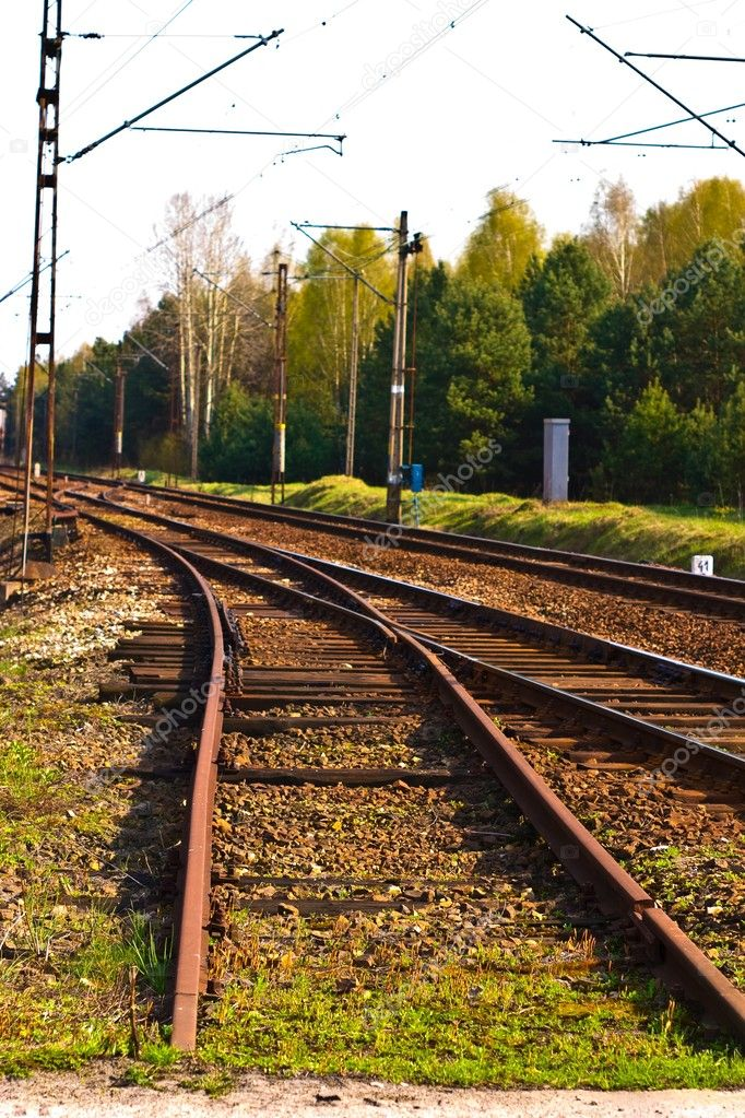View of the railway track on a sunny day — Stock Photo #3175798
