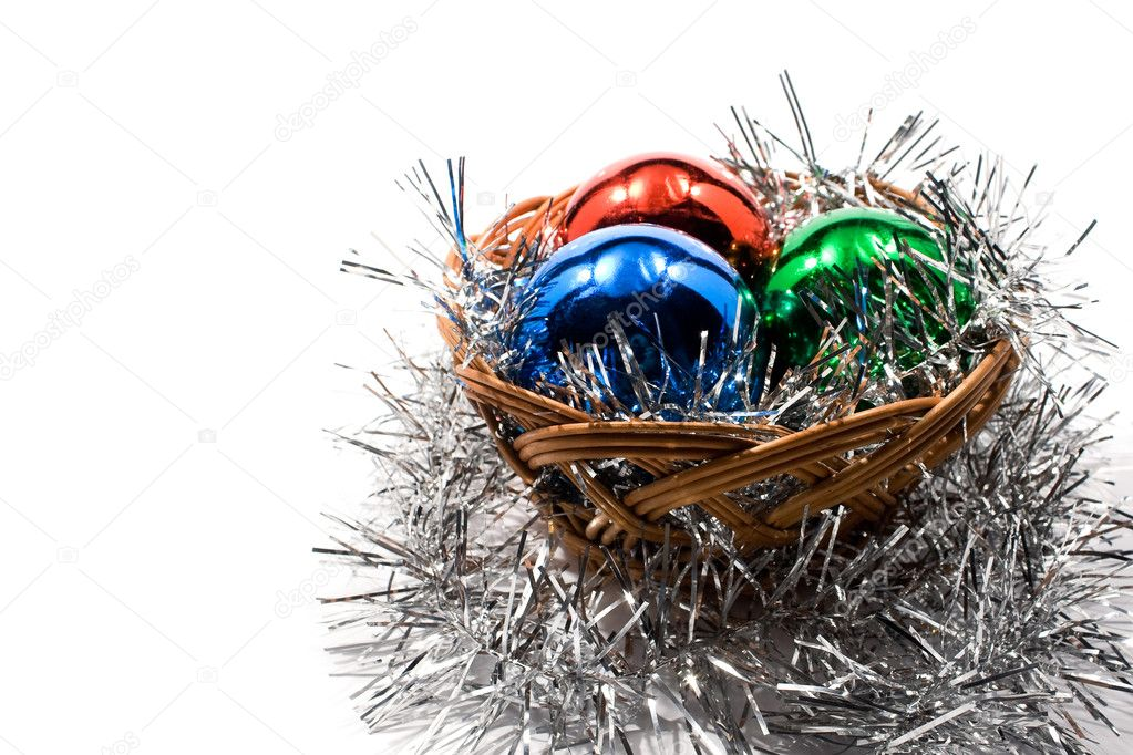 New Year and Christmas decoration on a white background — Stock Photo #2783764