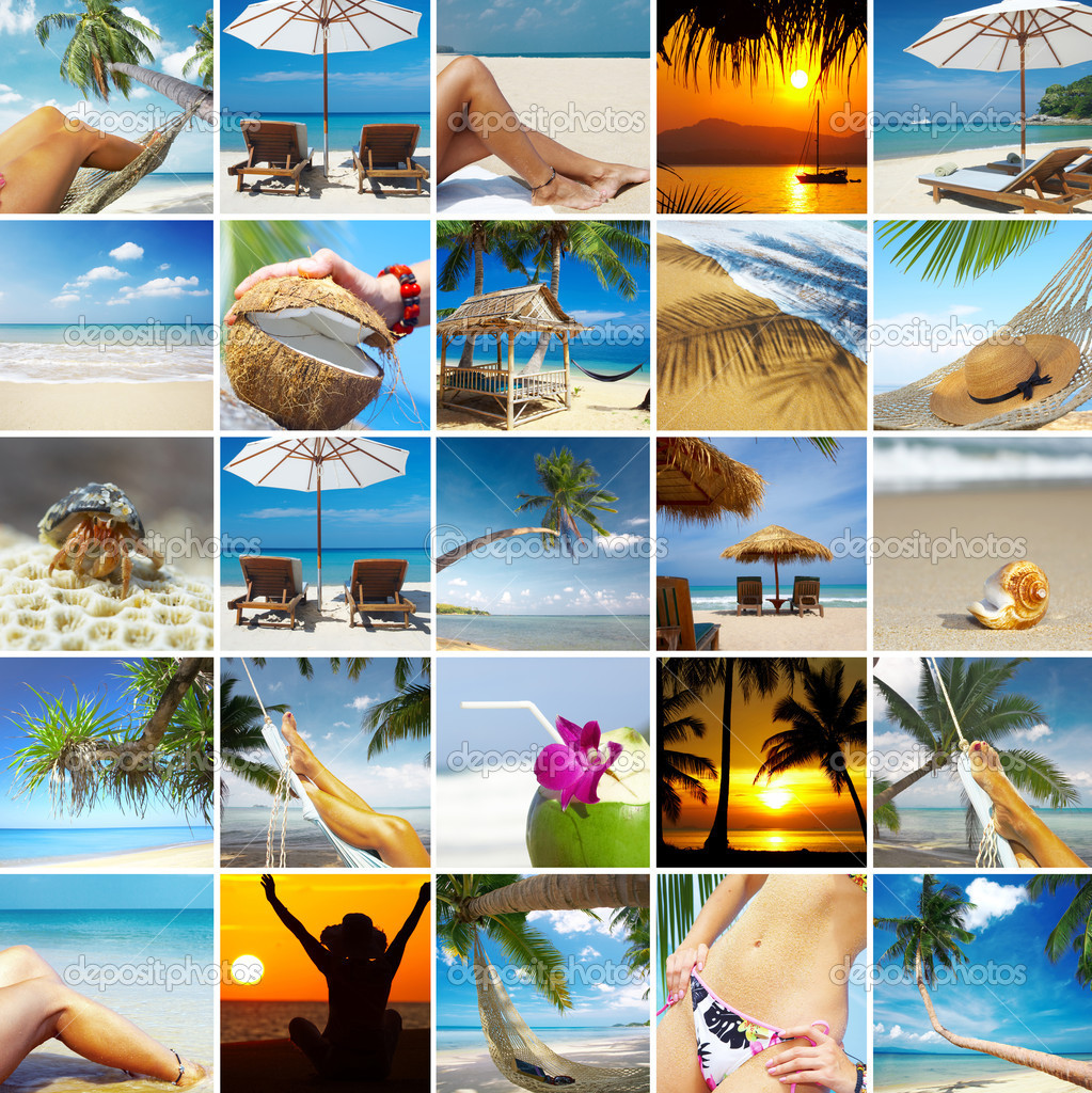 Summertime theme photo collage composed of few images — Stock Photo #2766867