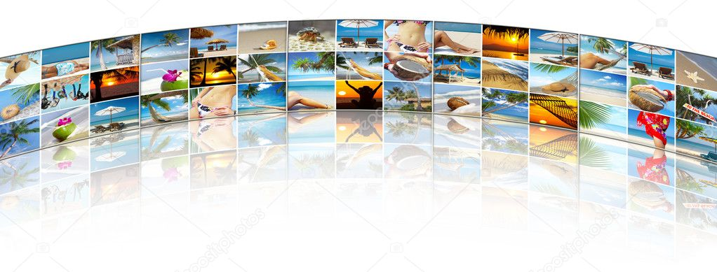 Summertime theme photo collage composed of few images — Stock Photo #2766935