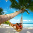 Tropic lounging - Foto Stock