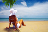Getting suntan — Stockfoto