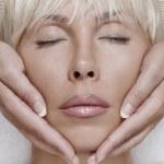 Face massage — Stock Photo