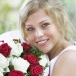With flowers - Stockfoto