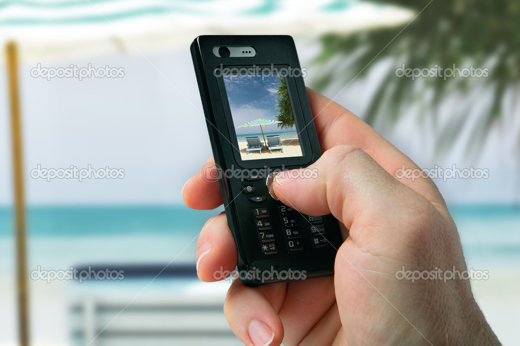 Close up view of mobile phone taking photo — Stock Photo #3757338