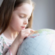 Girl with globe — Stock Photo #3051626
