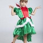 Adorable little girl on Saint Patrick's Day — Stock Photo