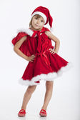 Cute little Miss Santa, 5 years old girl — Stock Photo