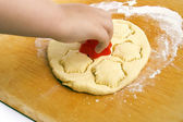 Cut biscuits — Stock Photo