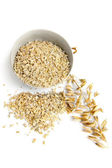 Rolled oats wakes up table — Stock Photo
