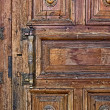 Old door decorations — Stock Photo