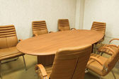 Table and chairs in the office — Stock Photo