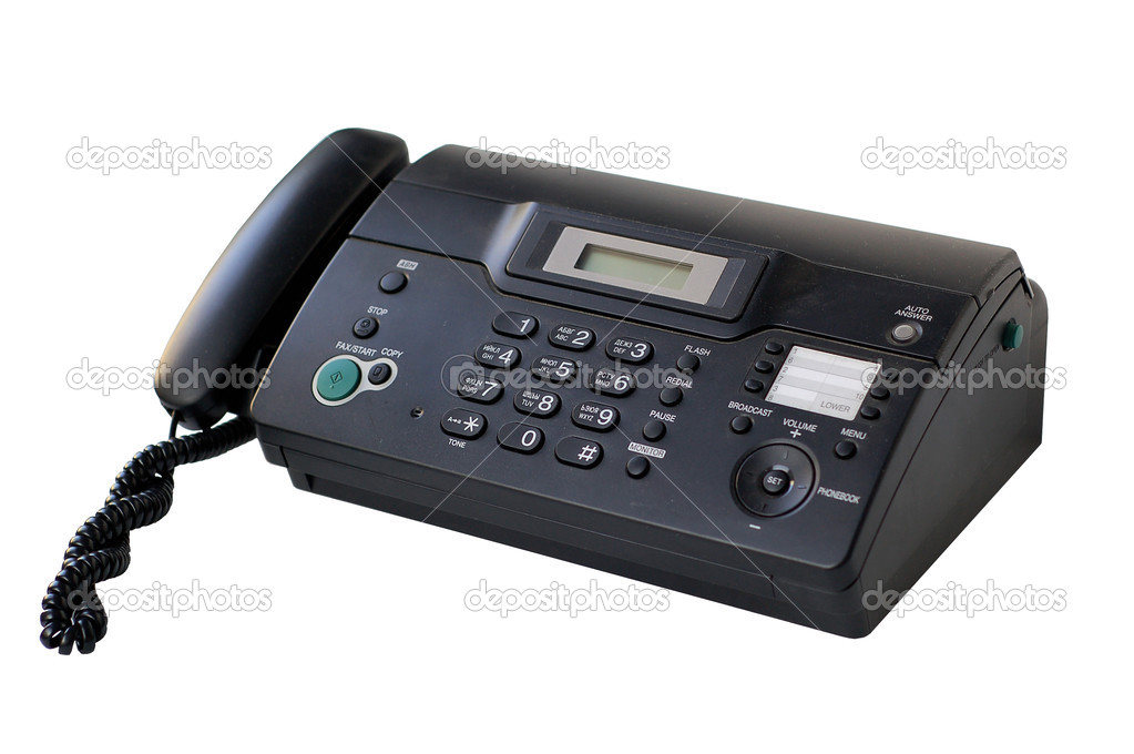 Isolated phone fax on a white background — Stock Photo #2793766