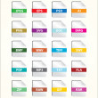 Stock Vector: File Icon Set