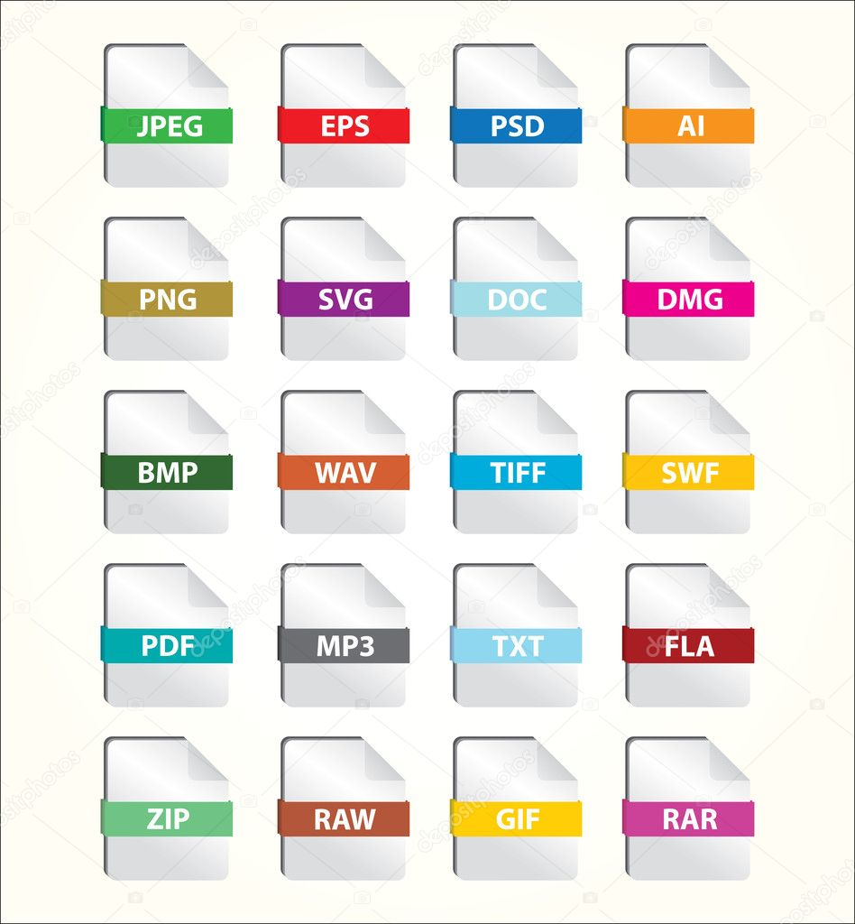 File Icon Set — Stock Vector #3516561
