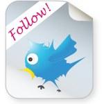 Illustrated bird icon — Stock Vector
