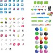 Mixed icons — Stock Vector