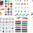 Vector de stock : Mixed icons