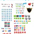 Large collection of web graphics - Stockvektor