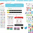 Webdesigners toolkit collection — Stock Vector