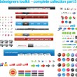 Stok Vektör: Webdesigners toolkit collection