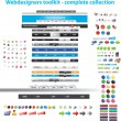 Webdesigners toolkit collection — Stock Vector #3052084