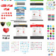 Webdesigners toolkit - premium collectio — Stockvectorbeeld