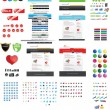 Stock Vector: Webdesigners toolkit - premium collectio