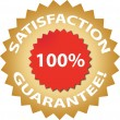 Satisfaction guarantee — Imagen vectorial