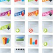 Designers toolkit series - web 2.0 icons - Stock Vector