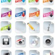 Vector de stock : Designers toolkit series - web 2.0 icons