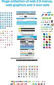 Enorme collectie van menu's en afbeeldingen — Stockvector