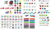 Iconos mixtos — Vector de stock