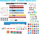 Colección de diseñadores web toolkit — Vector de stock