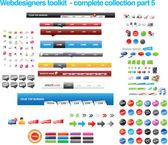 Kolekcja narzędzi projektantów stron internetowych — Wektor stockowy
