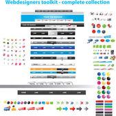 Webdesigners toolkit samling — Stockvektor