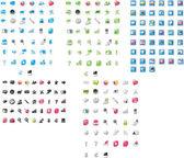 смешанные иконки — Cтоковый вектор