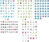 Icônes mixtes — Vecteur
