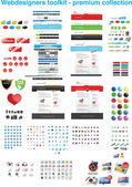 Diseñadores web toolkit - colección premium — Vector de stock