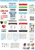 Webdesigners ツールキット - プレミアム コレクション — ストックベクタ