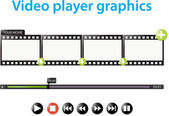 Video player graphics — Stock Vector
