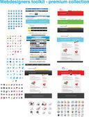 Projektantów stron internetowych narzędzi — Wektor stockowy