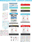 Webdesigners toolkit — Stock Vector